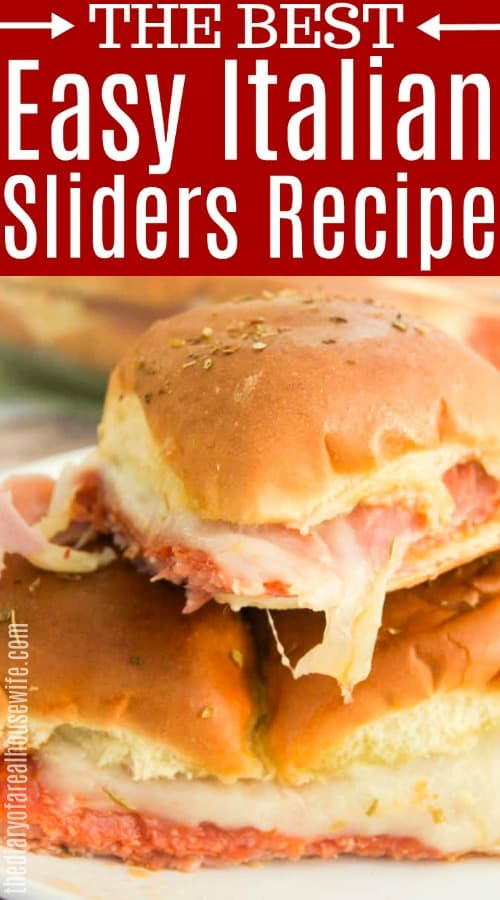 Easy Italian Sliders
