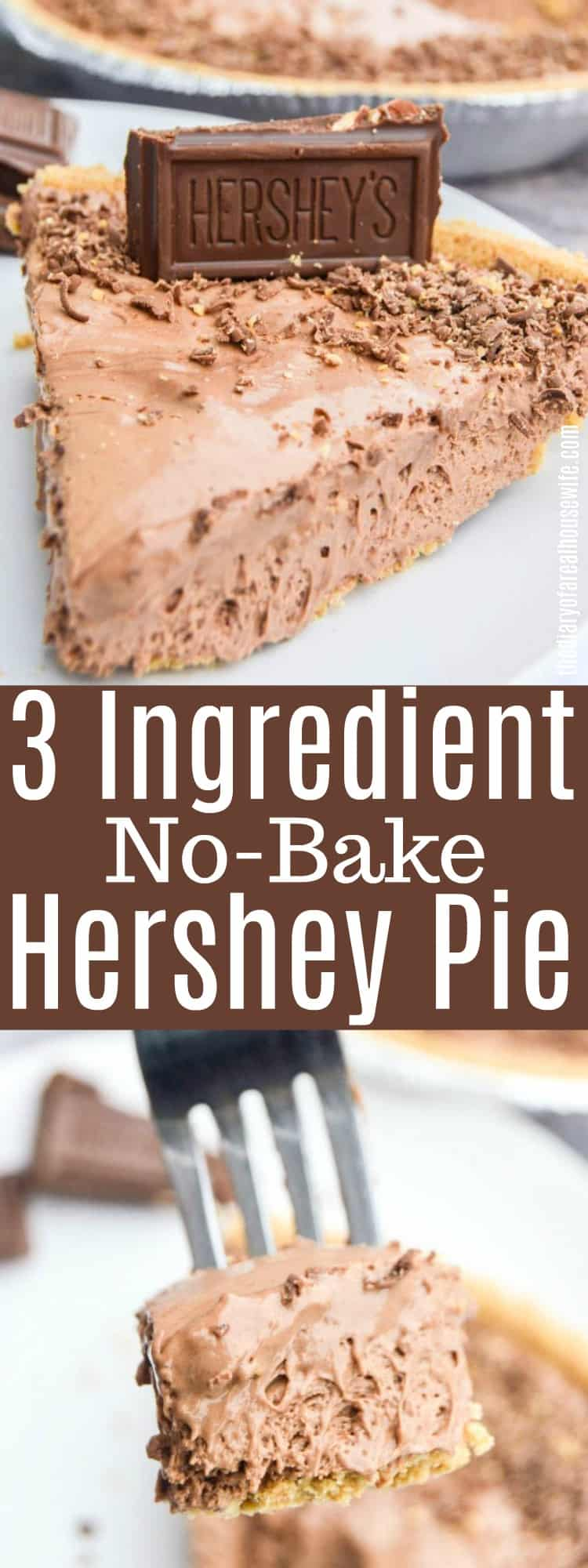3 Ingredient No-Bake Hershey Pie
