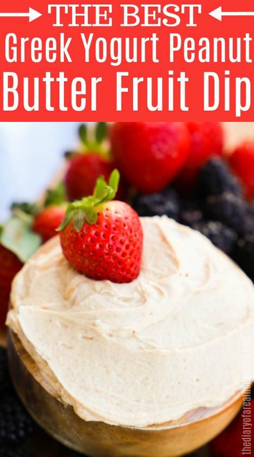 Easy Greek Yogurt Peanut Butter Fruit Dip