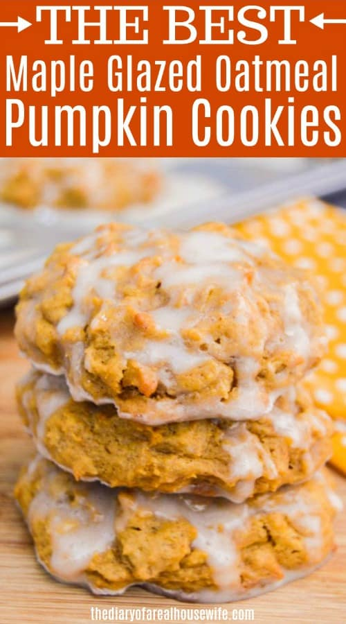 Oatmeal Pumpkin Cookie with a Maple Glaze