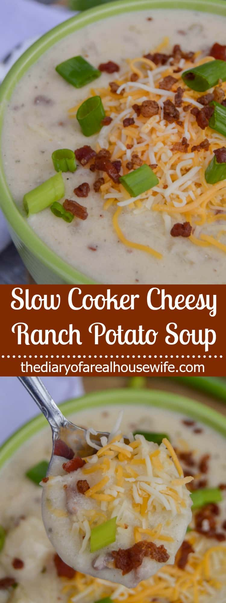 Slow Cooker Cheesy Ranch Potato Soup