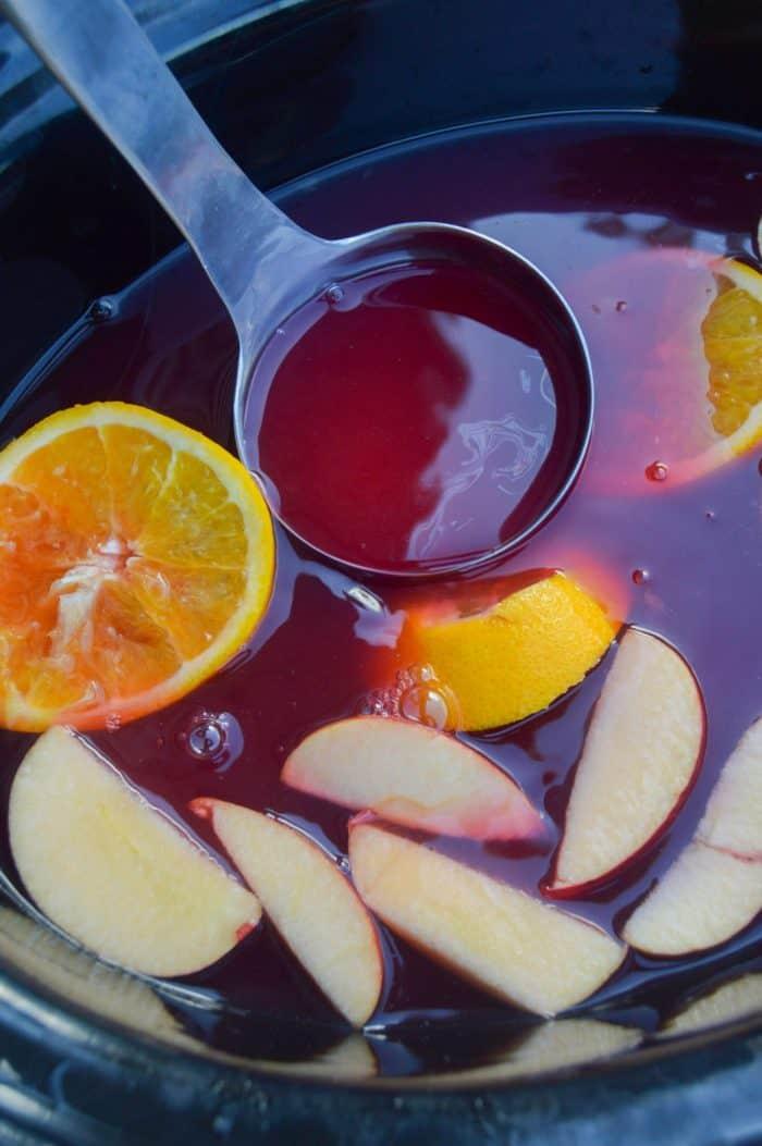 Slow Cooker Cranberry Orange Apple Cider