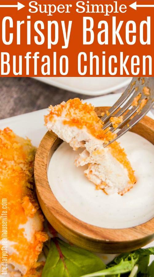 Crispy Baked Buffalo Chicken