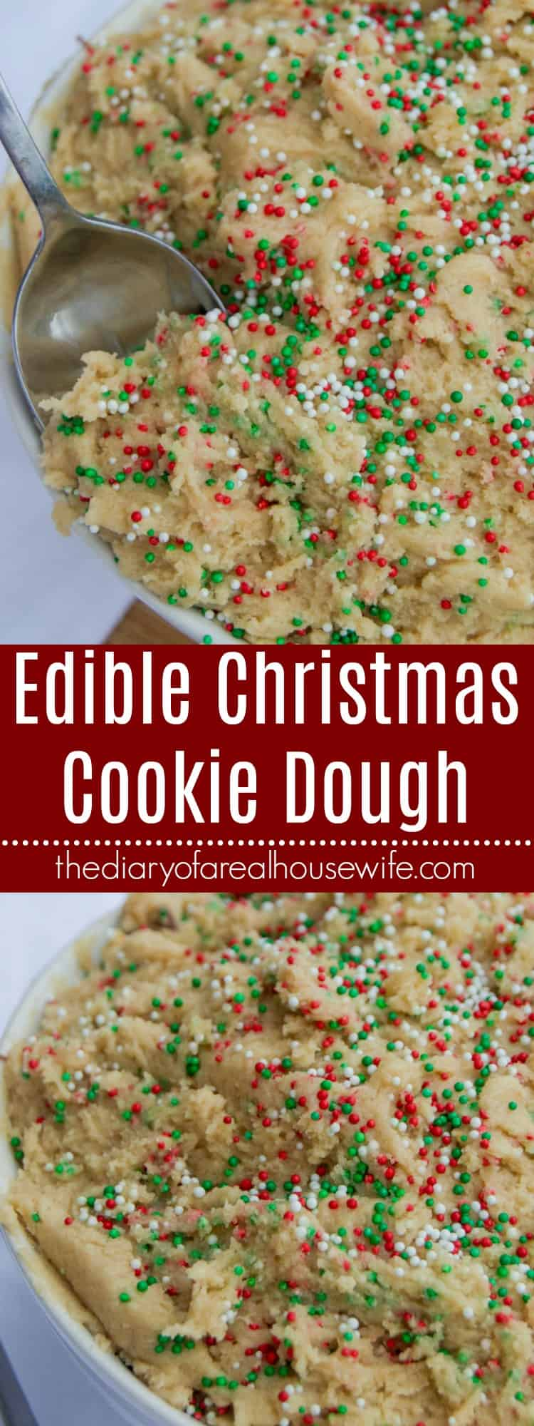 Edible Christmas Cookie Dough