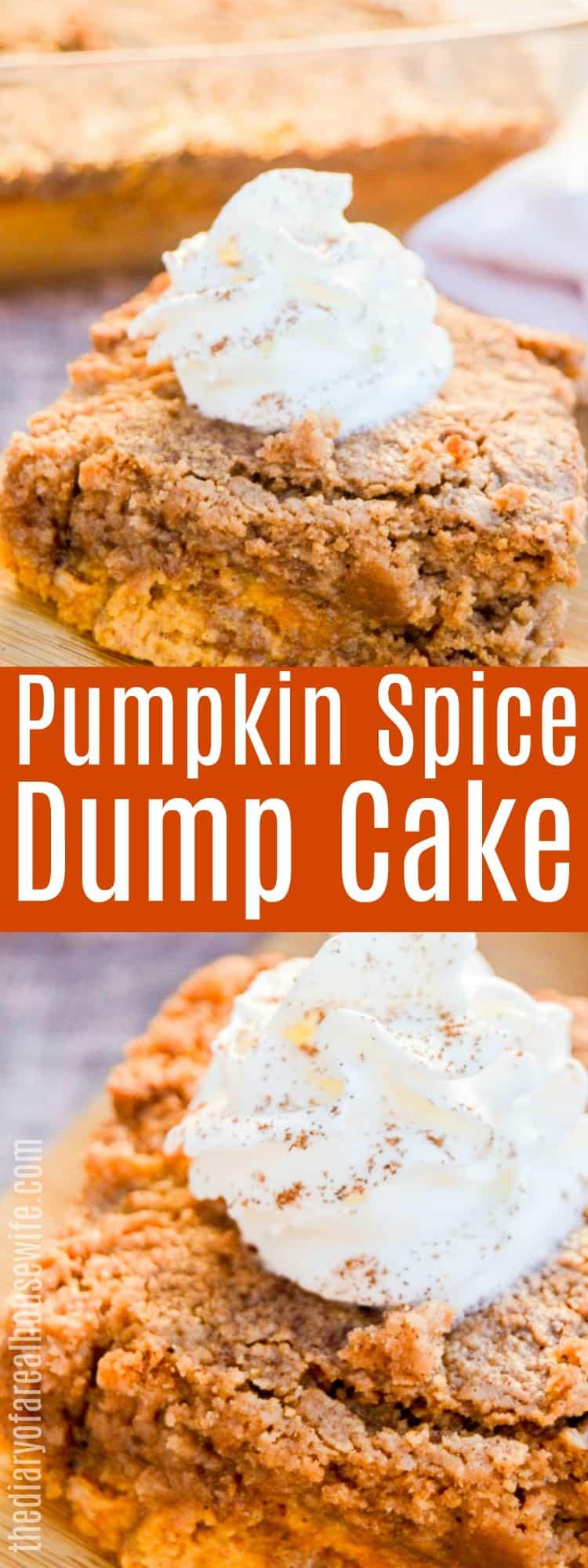 Pumpkin Spice Dump Cake