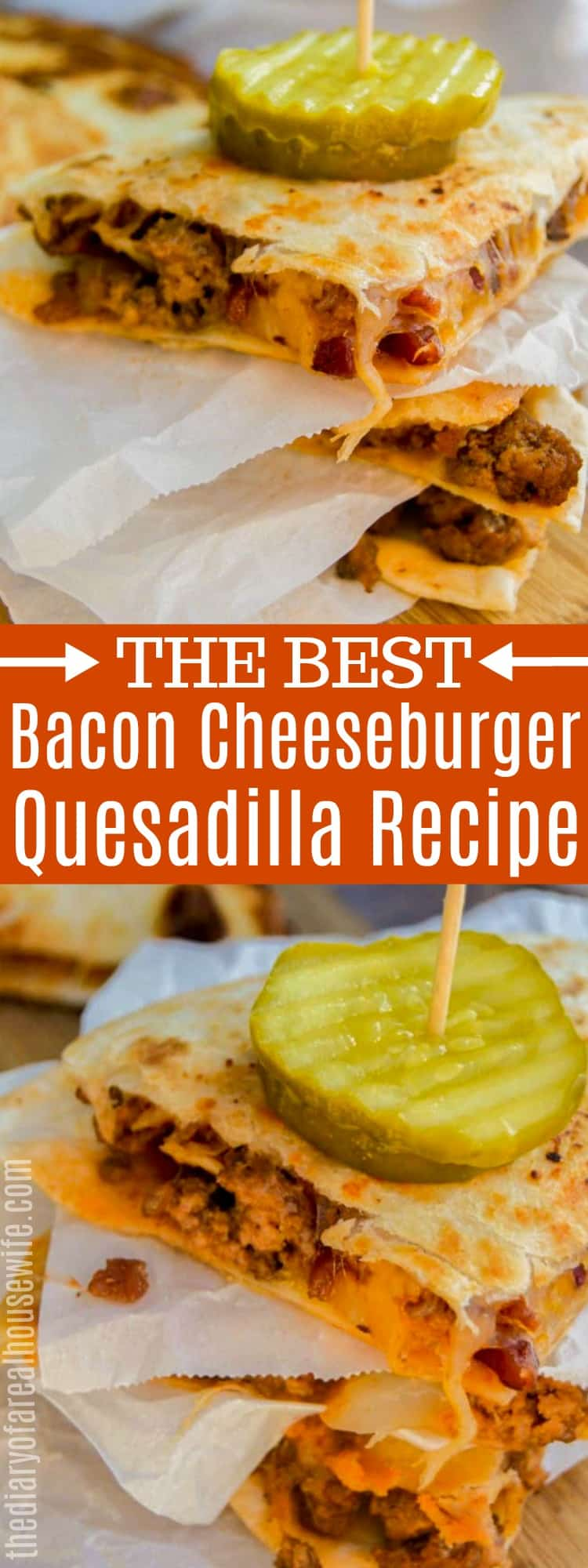 Bacon Cheeseburger Quesadilla