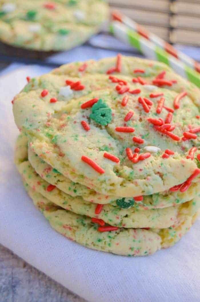 Yellow Cake Batter Christmas Cookies