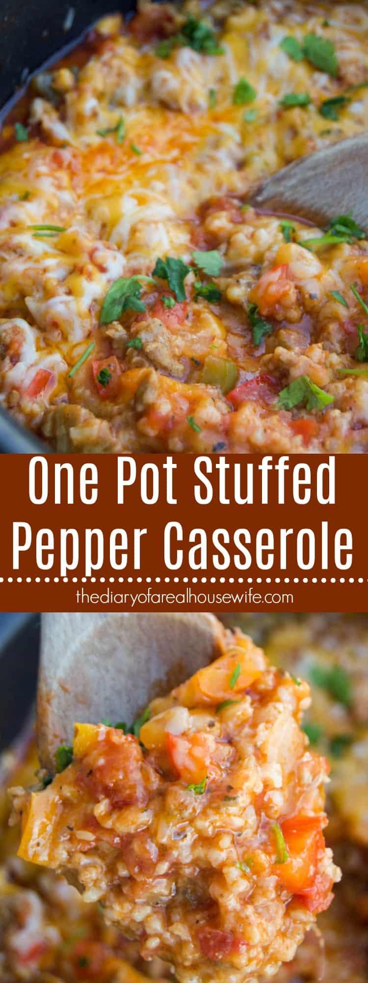 One Pot Stuffed Pepper Casserole