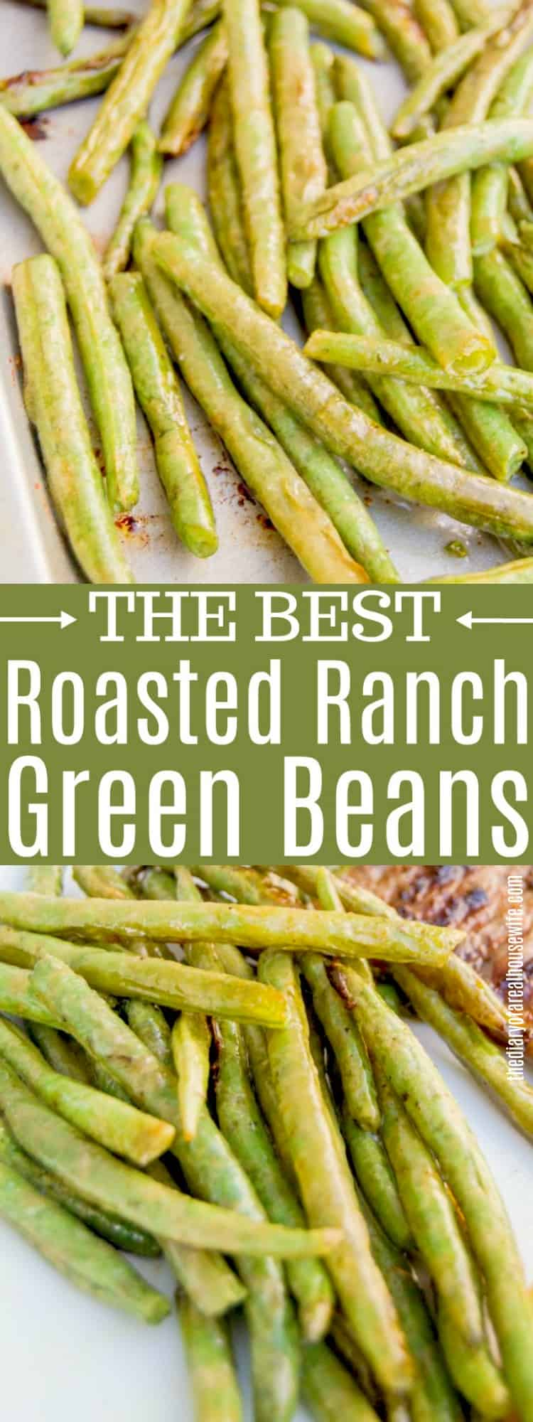 Roasted Ranch Green Beans