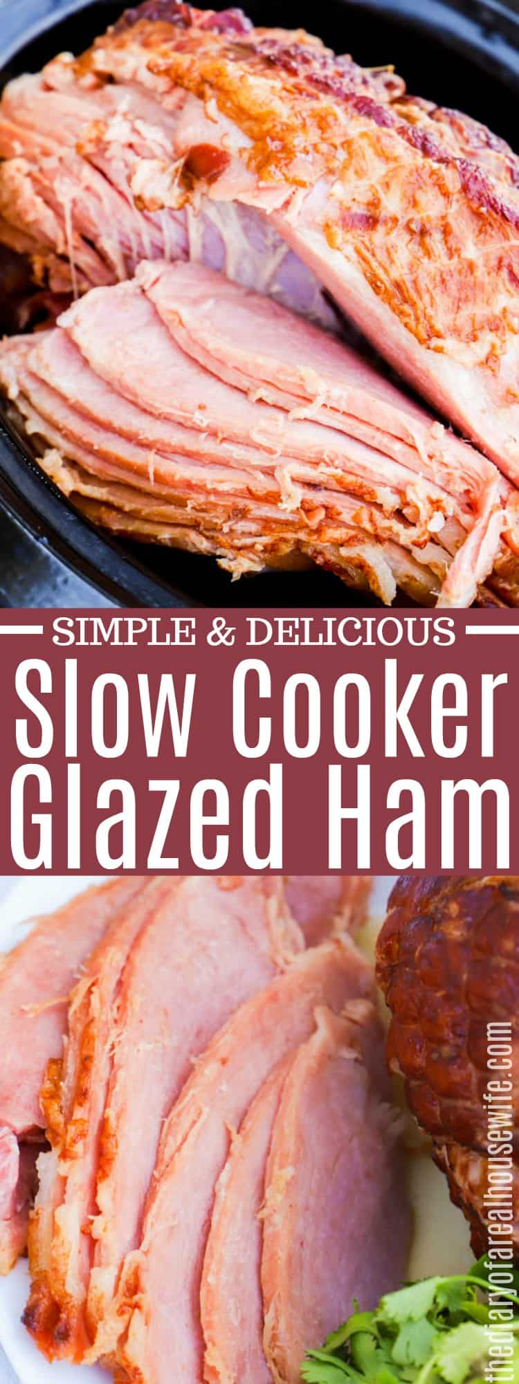 Slow Cooker Maple Glazed Ham