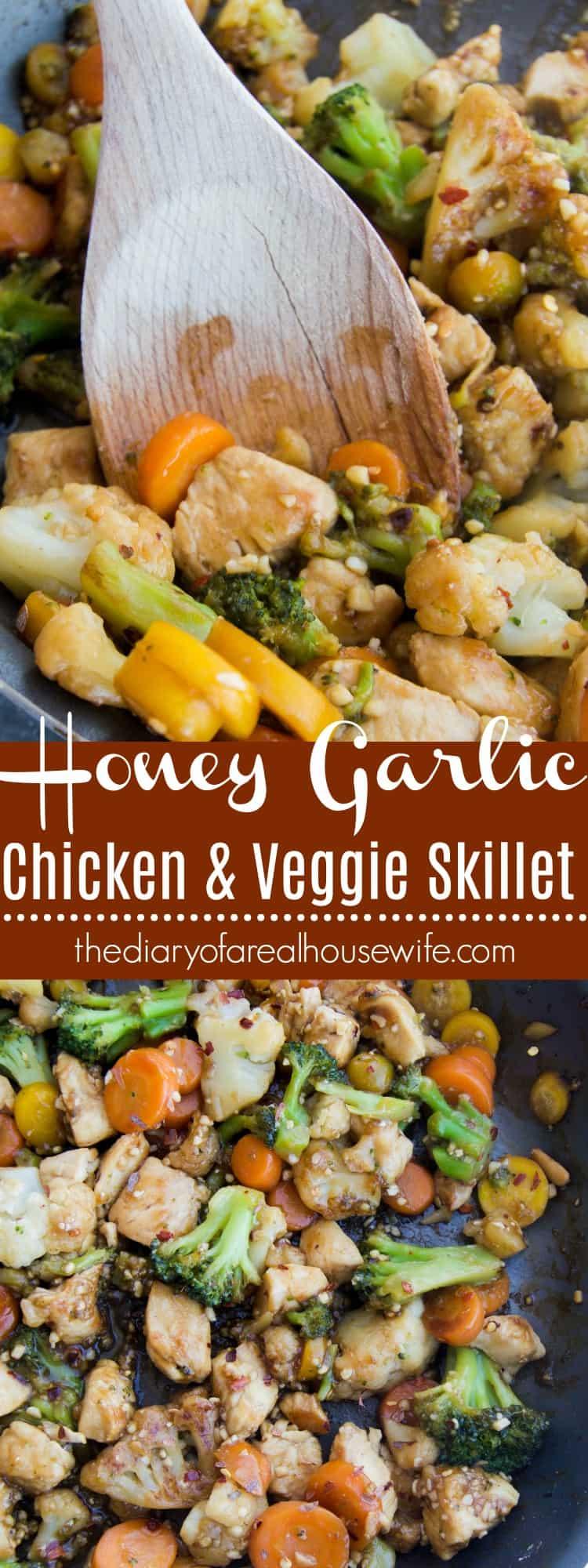 Honey Garlic Chicken and Veggie Skillet