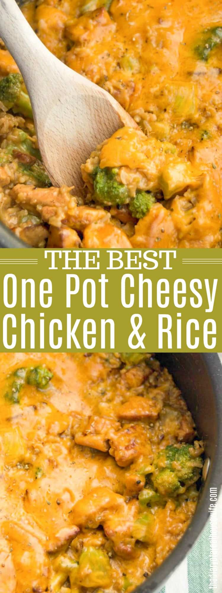 One Pot Cheesy Chicken and Rice