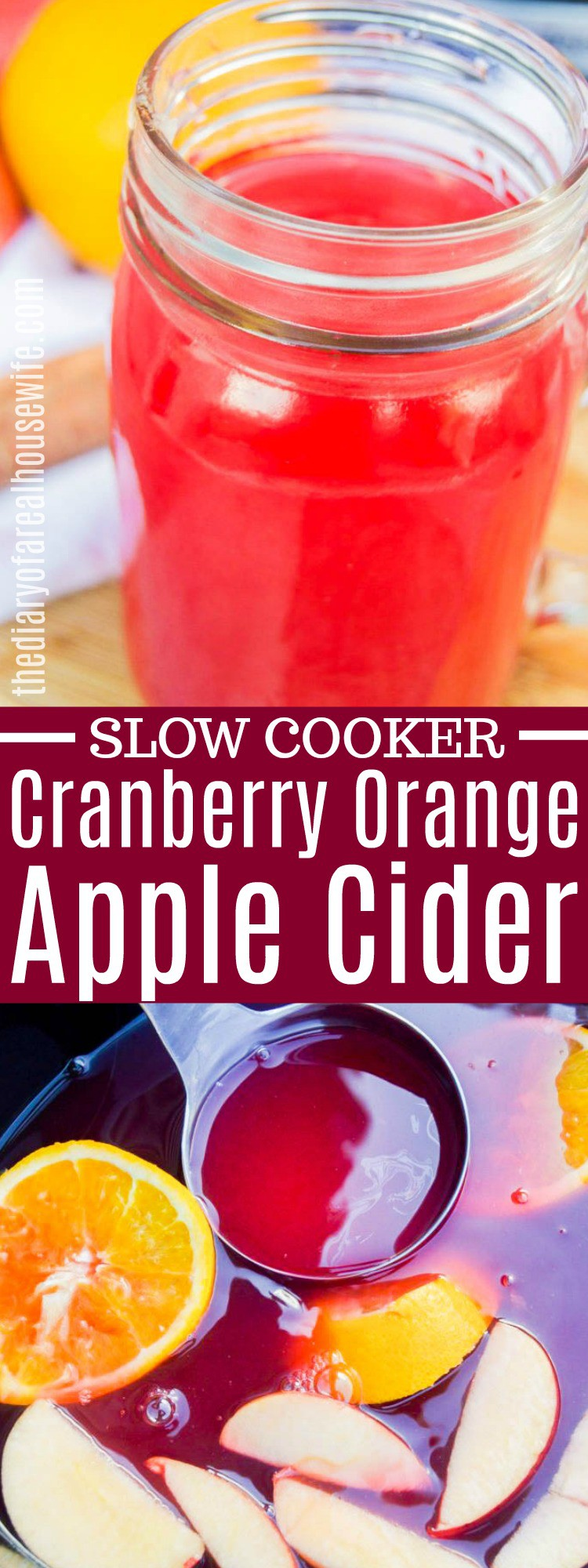 Slow Cooker Cranberry Orange Apple Cider