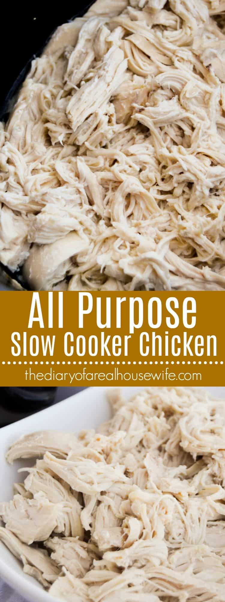 All Purpose Slow Cooker Chicken