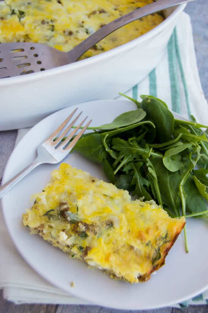 Spinach and Mozzarella Low Carb Breakfast Casserole - The ...