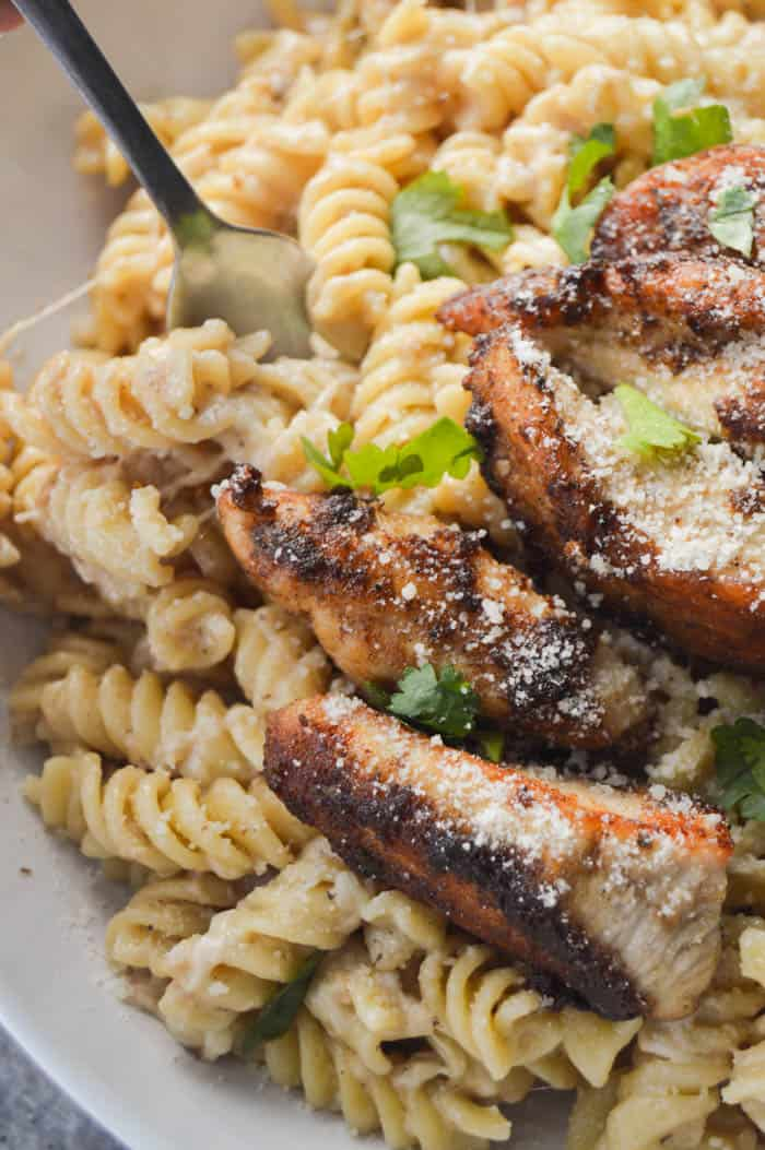 Parmesan Lemon Pasta and Chicken