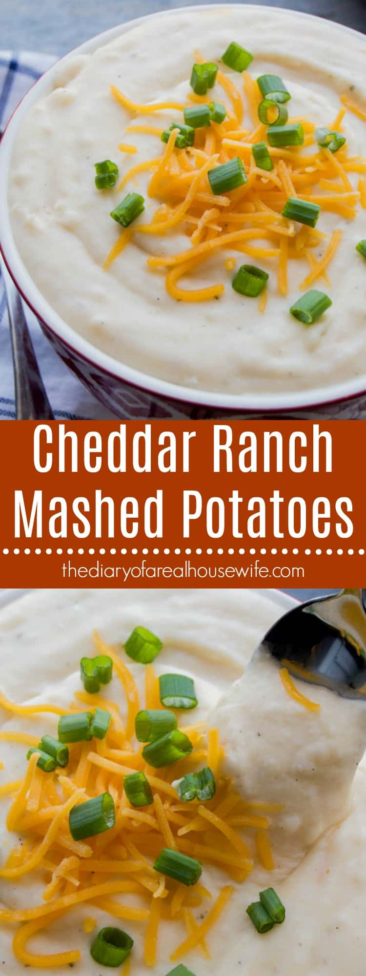 Cheddar Ranch Mashed Potatoes