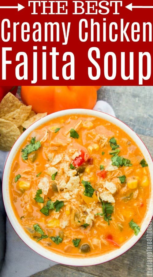 Creamy Chicken Fajita Soup