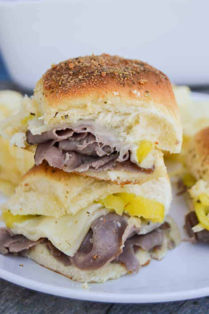 Roast Beef Italian Sliders