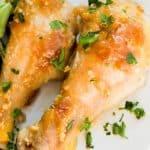 Baked Honey Garlic Chicken Legs
