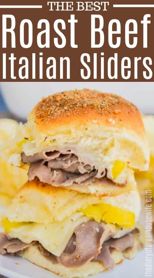Roast Beef Italian Sliders