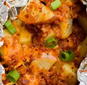 Foil Cheesy Ranch Potatoes