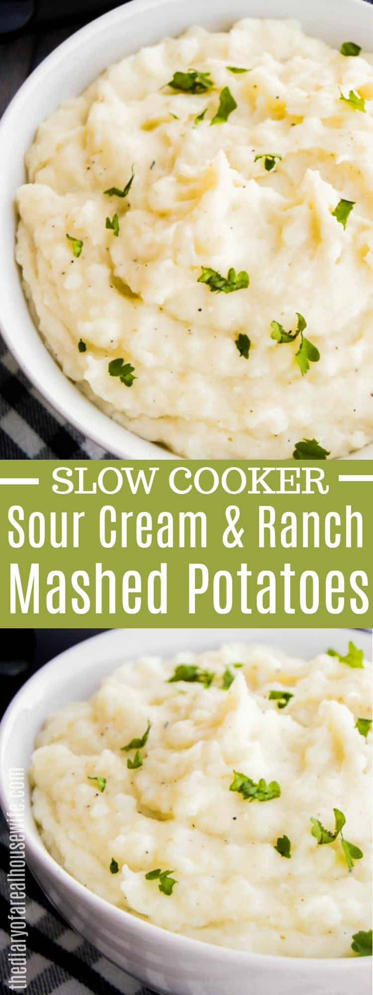 Slow Cooker Sour Cream and Ranch Mashed Potatoes