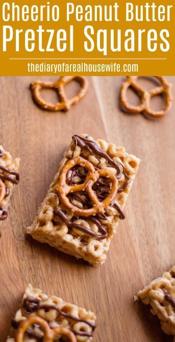 Cheerio Peanut Butter Pretzel Squares