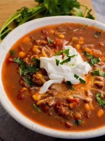 Spicy Taco Soup