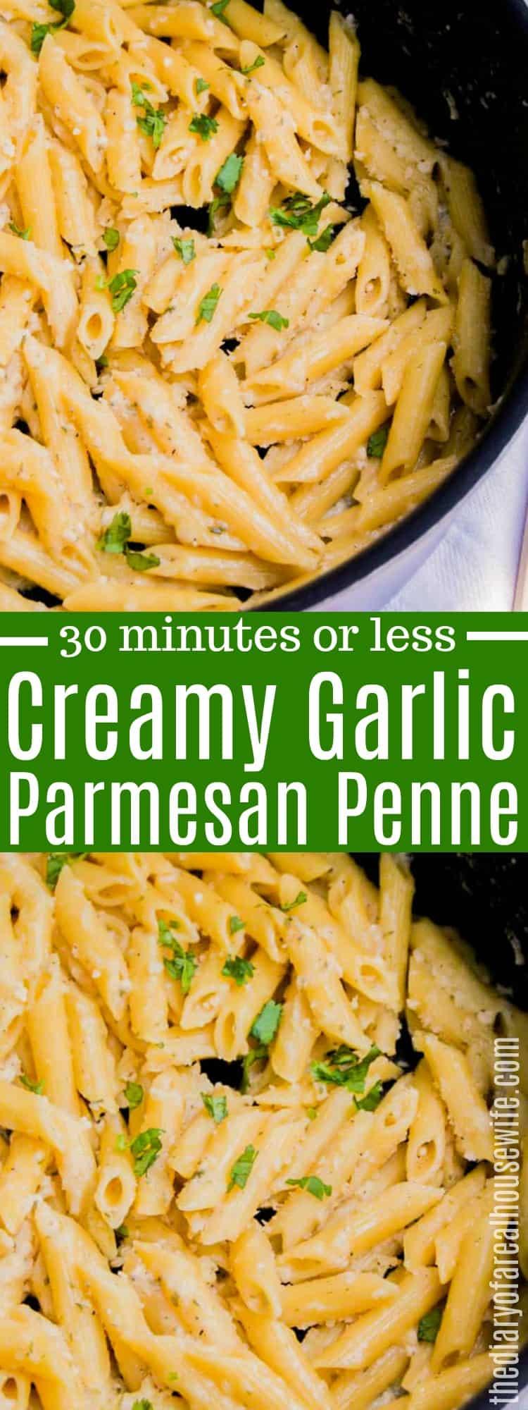 Creamy Garlic Parmesan Penne
