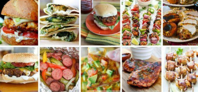 grilling recipes collage photo