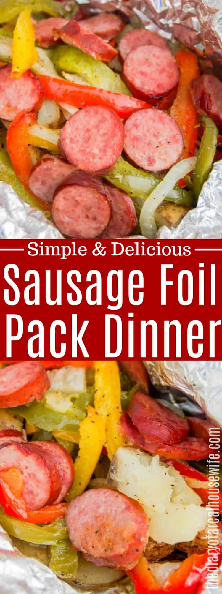 Sausage, Pepper, and Potato Foil Pack Dinner