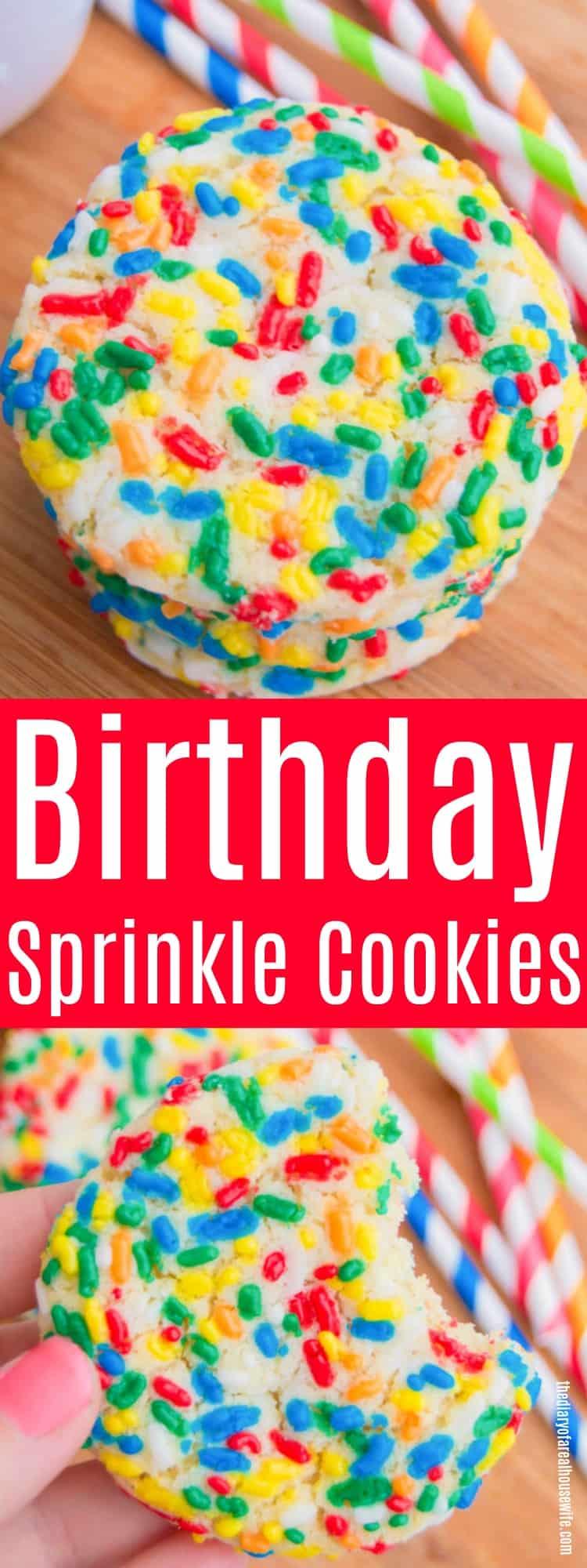 Birthday Sprinkle Cookies