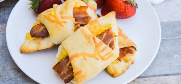 Breakfast Bacon Crescent Rolls Ups