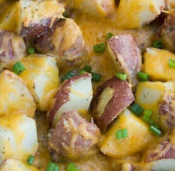 Sheet Pan Cheesy Ranch Potatoes