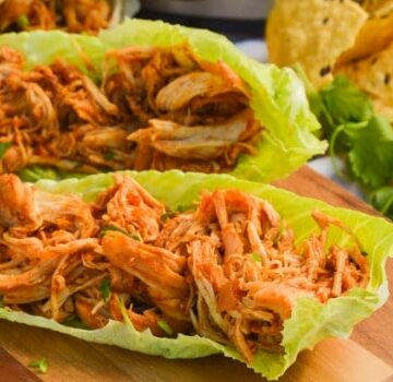 Slow Cooker Chicken Taco Lettuce Wraps