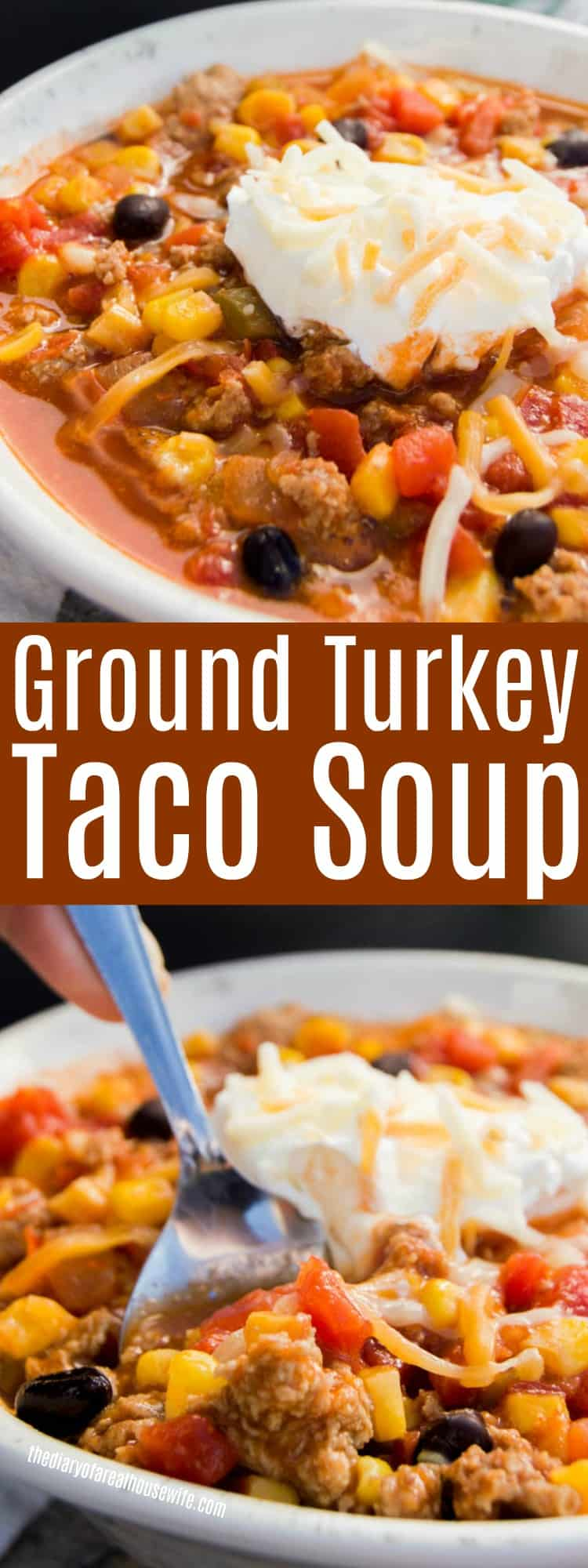Ground Turkey Taco Soup