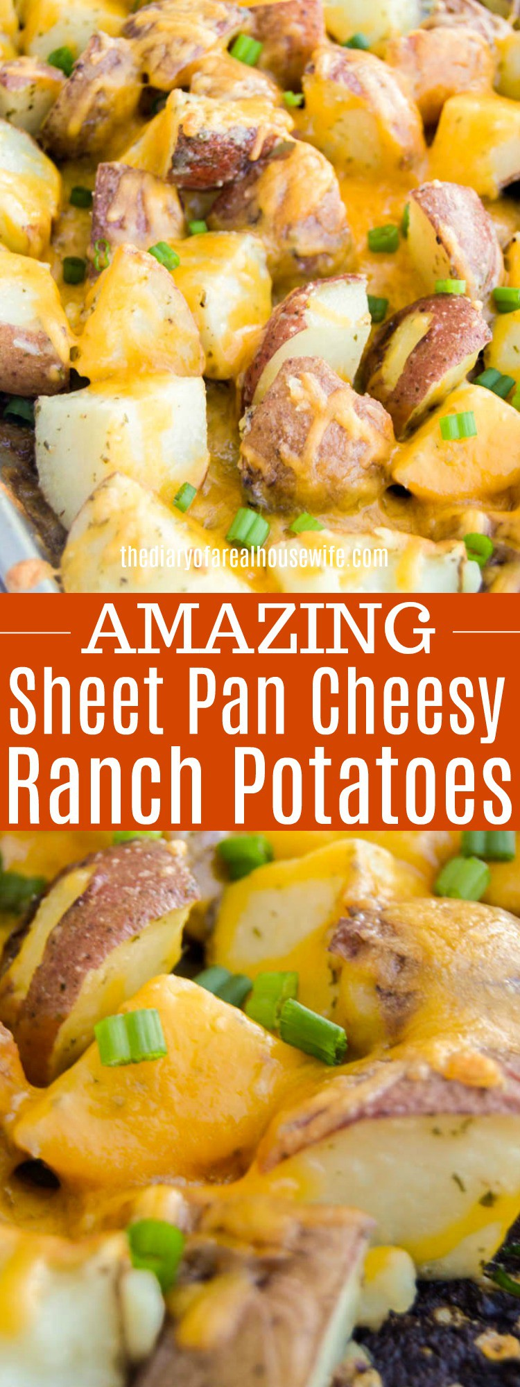 Sheet Pan Cheesy Ranch Potatoes