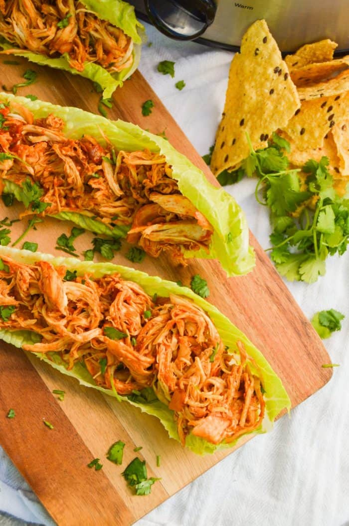Slow Cooker Chicken Taco Lettuce Wraps