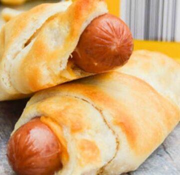 Cheesy Hot Dog Roll Ups