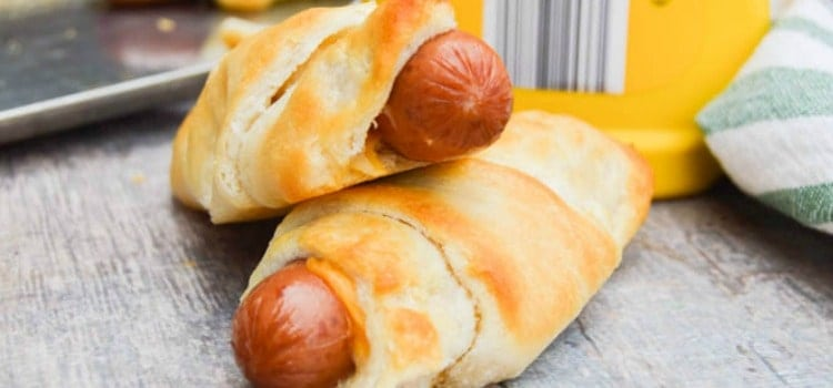 Cheesy Hot Dog Roll Ups