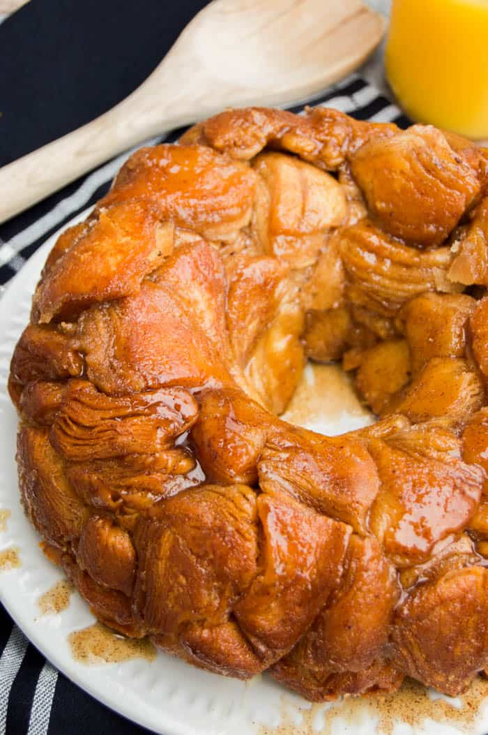 monkey bread on a white plate