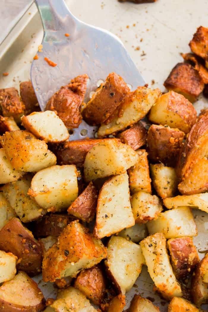 Roasted Parmesan Garlic Potatoes
