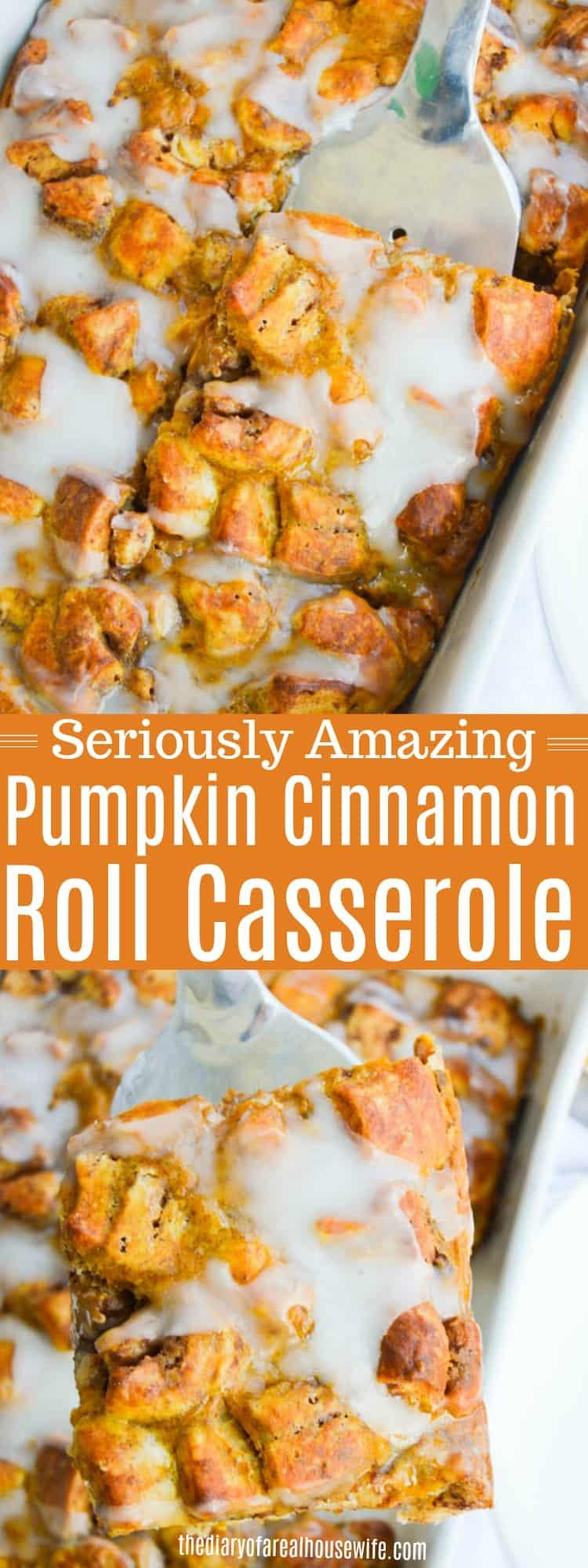 Pumpkin Cinnamon Roll Casserole
