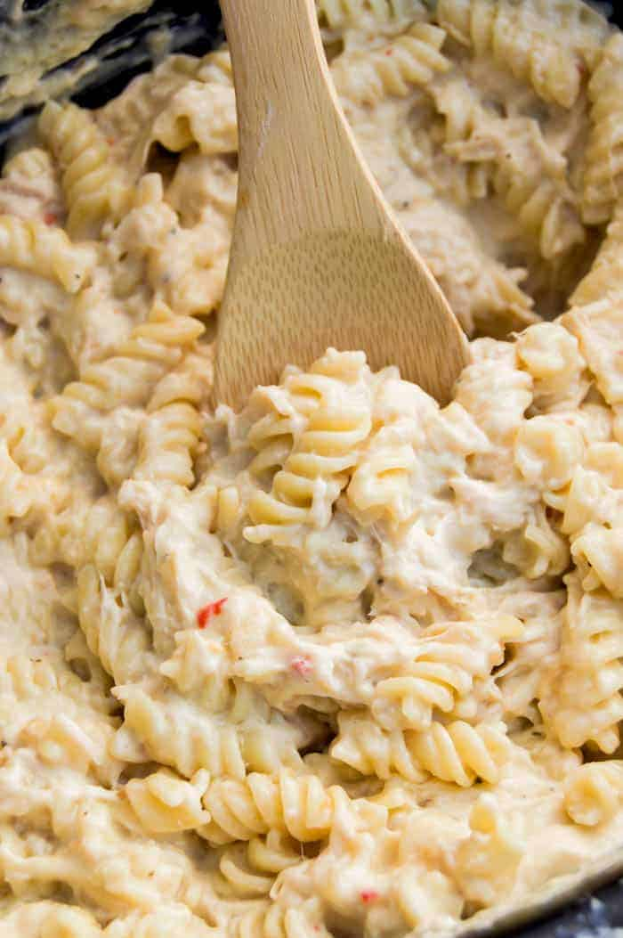 Slow Cooker Creamy Italian Chicken Rotini