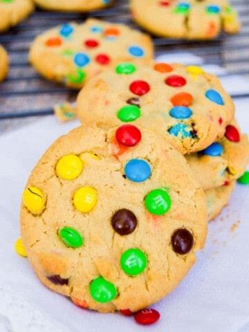 peanut butter MM cookie
