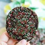 Chocolate Christmas Sprinkle Cookies