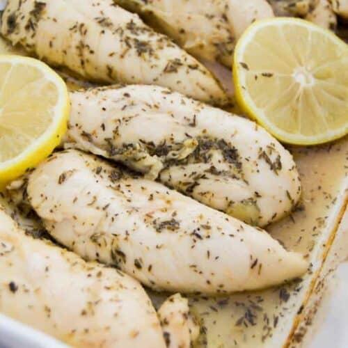 Lemon Garlic Chicken Tenders