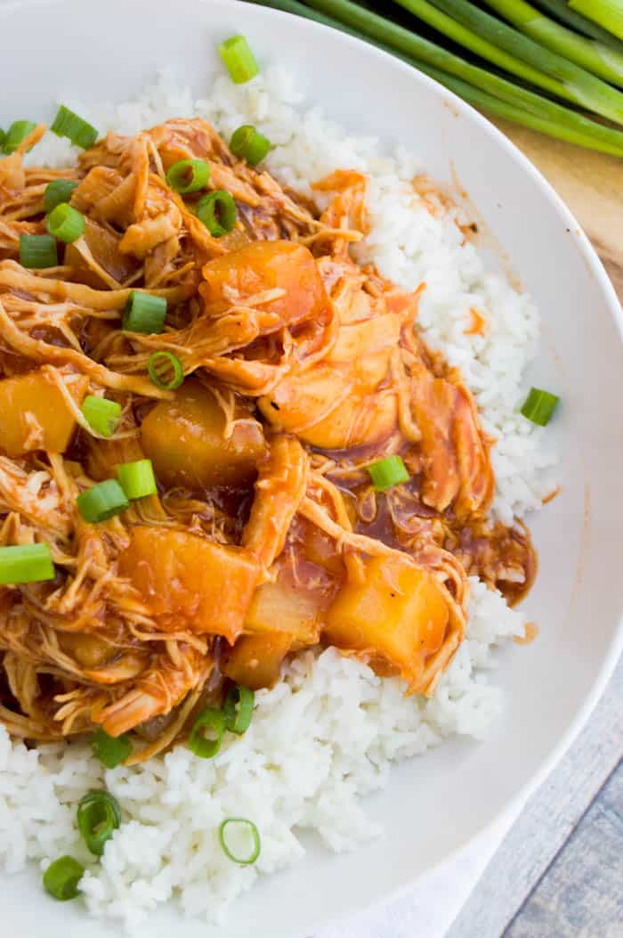 Slow Cooker Pineapple BBQ Chicken