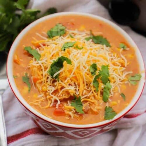 Cheesy Chicken Nacho Soup